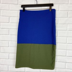 Lularoe Cassie classic pencil skirt two tone L